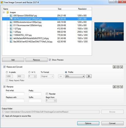 Free Image Convert and Resize (โปรแกรมปรับขนาดรูป แปลงไฟล์ภาพ แจกฟรี) :