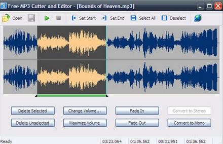 โปรแกรมตัดเพลง โปรแกรมทำริงโทน Free MP3 Cutter