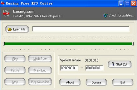 โปรแกรมตัดเพลง Eusing Free MP3 Cutter