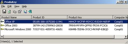 โปรแกรมดู CD Key Windows ProduKey