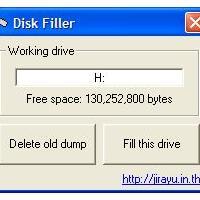 Disk Filler (โปรแกรม สำหรับเติมพื้นที่แฟลชไดรฟ์ให้เต็ม เพื่อกันไวรัส มาสร้างหรือ เกาะไฟล์ของเรา)