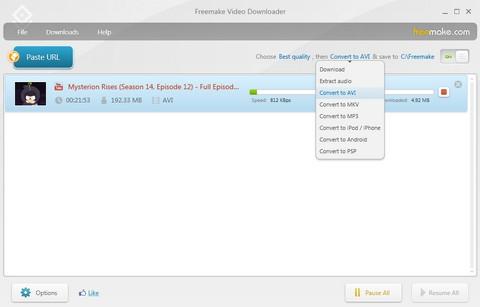 โปรแกรมช่วยดาวน์โหลดคลิป Freemake Video Downloader