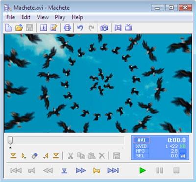 โปรแกรมตัดต่อวีดีโอ Machete Video Editor