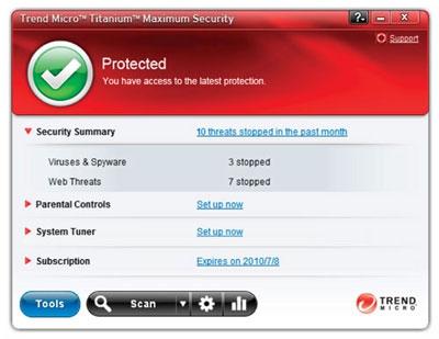 Trend Micro Titanium Maximum Security (โปรแกรมสแกนไวรัส ไม่ทำให้ คอมช้า)