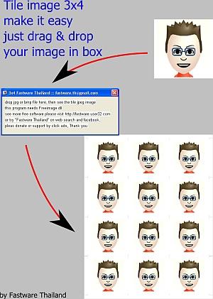 โปรแกรม ทำรูปติดบัตร จากเว็บแคม (TileImage 3 x 4)