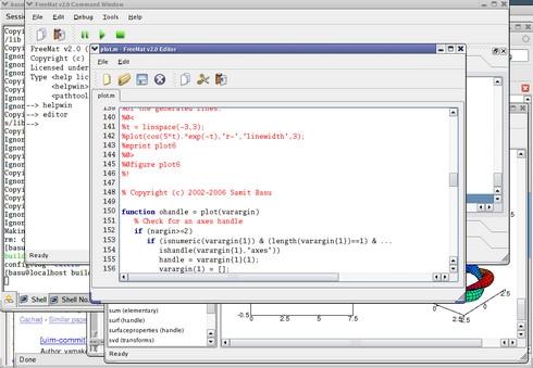 FreeMat (โปรแกรม FreeMat คำนวณคณิตศาสตร์ เหมือน MatLab) :