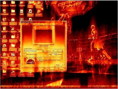 โปรแกรมพักหน้าจอ Fire Screensaver