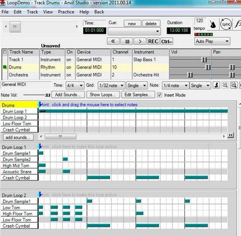 Anvil Studio (โปรแกรม Anvil Studio สร้างเพลงจากเสียงดิจิทัล ฟรี) :
