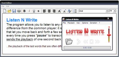 โปรแกรมถอดเทป Listen N Write