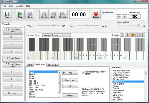 โปรแกรมเล่นเปียโน Little Piano