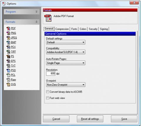โปรแกรมสร้างไฟล์เอกสาร PDFCreator