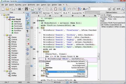โปรแกรมเขียนโปรแกรม SynWrite