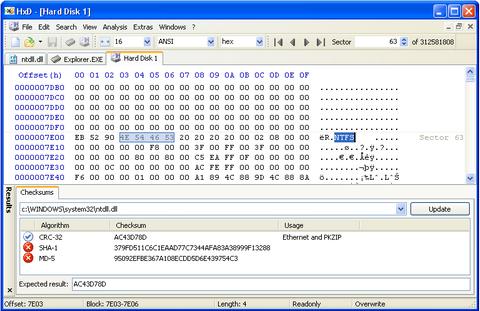 โปรแกรมตรวจสอบแก้ไขไฟล์ HxD Hex Editor
