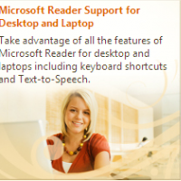 Microsoft Reader (โปรแกรม ที่ช่วยเสริมการอ่าน หนังสือบนคอมพิวเตอร์)