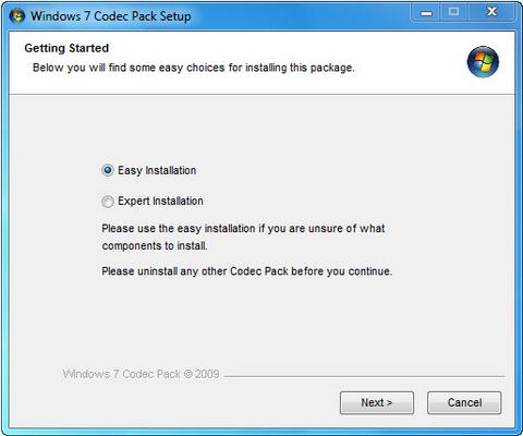 Codec เปิดไฟล์หนังได้ทุกประเภท Windows 7 Codec Pack
