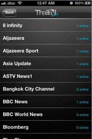 App ดูทีวี ThaiTV Live