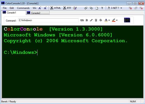 ColorConsole (โปรแกรม CMD เปลี่ยนสี Font ได้หลากหลาย) :