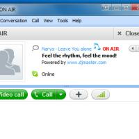 ON AIR (ปลั๊กอิน Skype แบ่งปันเพลง ที่ฟังอยู่ ให้เพื่อนฟังด้วยผ่าน Skype)