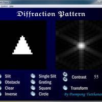 โปรแกรม แบบจำลองริ้วรอย การแทรกสอดของแสง (Diffraction Pattern)
