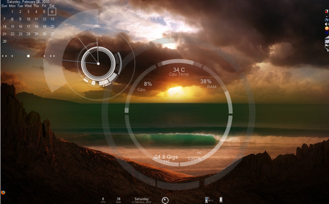 Emerge Desktop (โปรแกรม ปรับเปลี่ยน หน้าจอ เดสก์ทอป ให้มีสีสันมากขึ้น) :