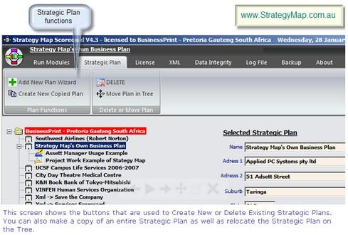 โปรแกรมสร้างโฟล์วชาร์ตผังงาน Strategy Map Balanced Scorecard