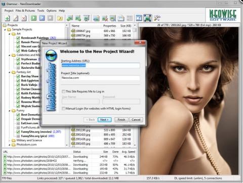 โปรแกรมโหลดรูป NeoDownloader
