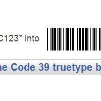 Code 39 Font TrueType (TTF) Format (เปลี่ยนฟ้อนต์ ภาษาอังกฤษ ให้เป็น BarCode ง่ายๆ)