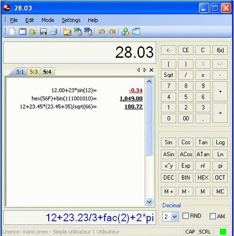 Deskcalc Pro (โปรแกรมเครื่องบวกเลข) :