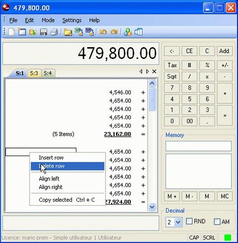 โปรแกรมเครื่องคิดเลข Deskcalc Pro