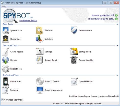 ดาวน์โหลดโปรแกรม Spybot