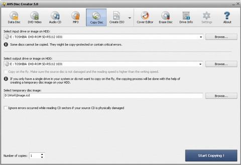 ดาวน์โหลดโปรแกรมไรท์แผ่น AVSDVDCopy