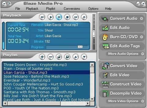 โปรแกรม จัดการ ไฟล์มัลติมีเดีย Blaze Media Pro