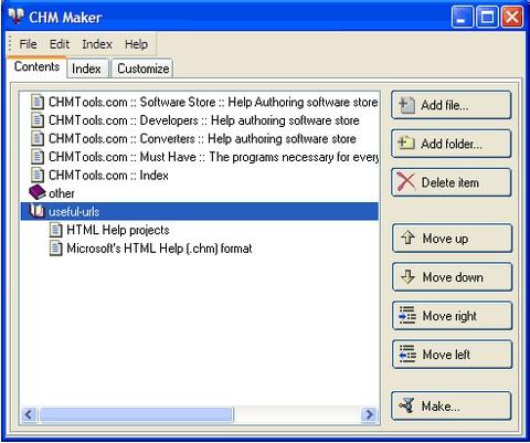 โปรแกรมทำคู่มือการใช้งาน Abee Chm Maker
