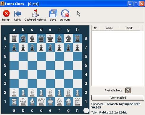 เกมส์หมากรุก Lucas Chess