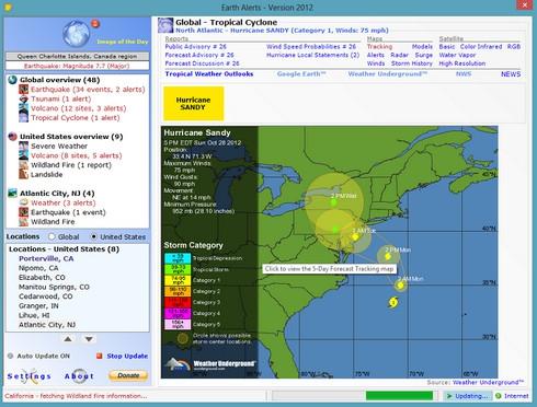 โปรแกรมแจ้งเตือนแผ่นดินไหว Earth Alerts