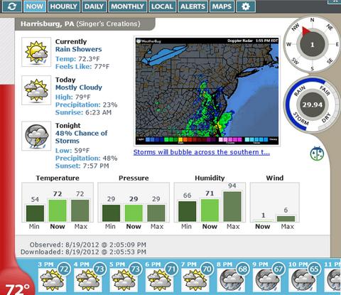 โปรแกรมพยากรณ์อากาศ เช็คสภาพอากาศ Weather Watcher Live