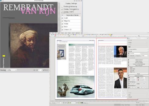 โปรแกรมออกแบบทำสิ่งพิมพ์ ออกแบบหนังสือ นิตยสาร Scribus