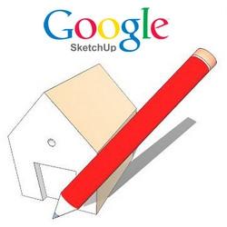 Google SketchUp (โปรแกรมออกแบบบ้าน 3 มิติ สร้างโมเดล 3 มิติ) :