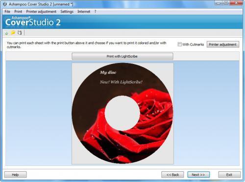 โปรแกรมออกแบบปก Ashampoo Cover Studio