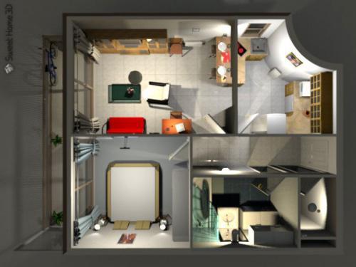 โปรแกรมออกแบบภายใน Sweet Home 3D