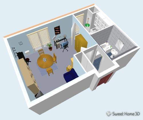 โปรแกรมออกแบบ Sweet Home 3D