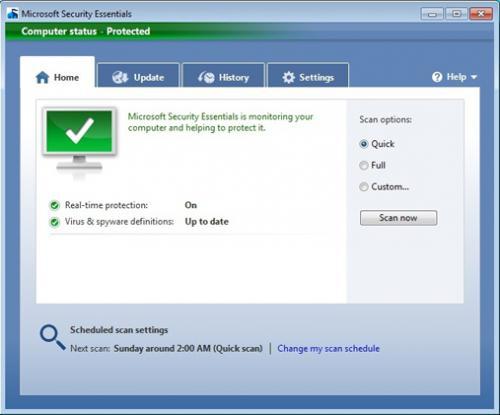 ดาวน์โหลด Microsoft Security Essentials
