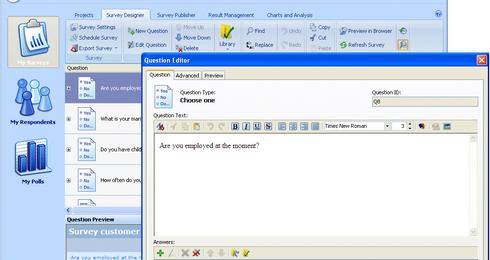 โปรแกรมสร้างแบบสอบถาม WinSurvey