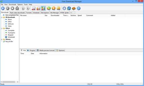 Free Download Manager (โปรแกรม Free DL Manager ช่วยดาว์โหลดไฟล์ บน PC ฟรี) :