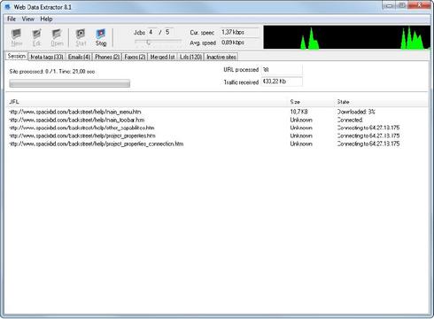 โปรแกรมดูดข้อมูลจากเว็บไซต์ Web Data Extractor