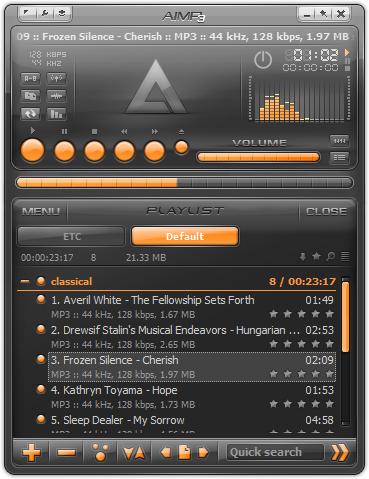 โปรแกรมฟังเพลง AIMP
