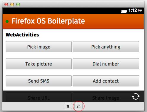 โปรแกรม Firefox OS Simulator