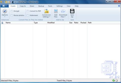 โปรแกรมบีบอัดไฟล์ WinZip