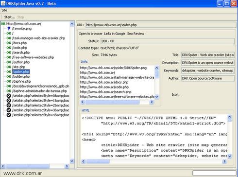 drkspider โปรแกรมสร าง sitemap ตรวจสอบเว บไซต ฟร 3 2x ดาวน โหลด