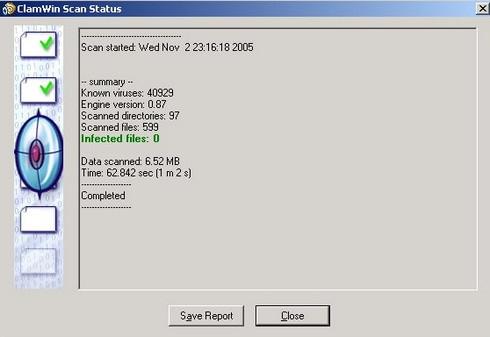 ดาวน์โหลดโปรแกรม Clamwin Antivirus